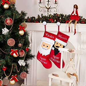 Personalized Christmas Stockings  2 pack