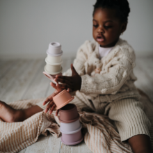 Mushie Stacking Cups | Lifestyle Stacking