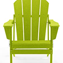 Lime front view adirondack chair