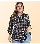 plus size plaid shirts for women