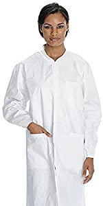 Medical Nation White Disposable Lab Coat Size XL