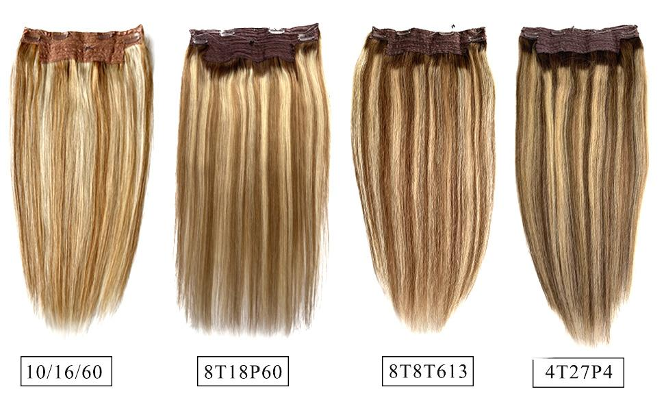 balayage highlights halo hair extensions for women