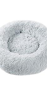 Round Faux Fur Cushion Pet Bed