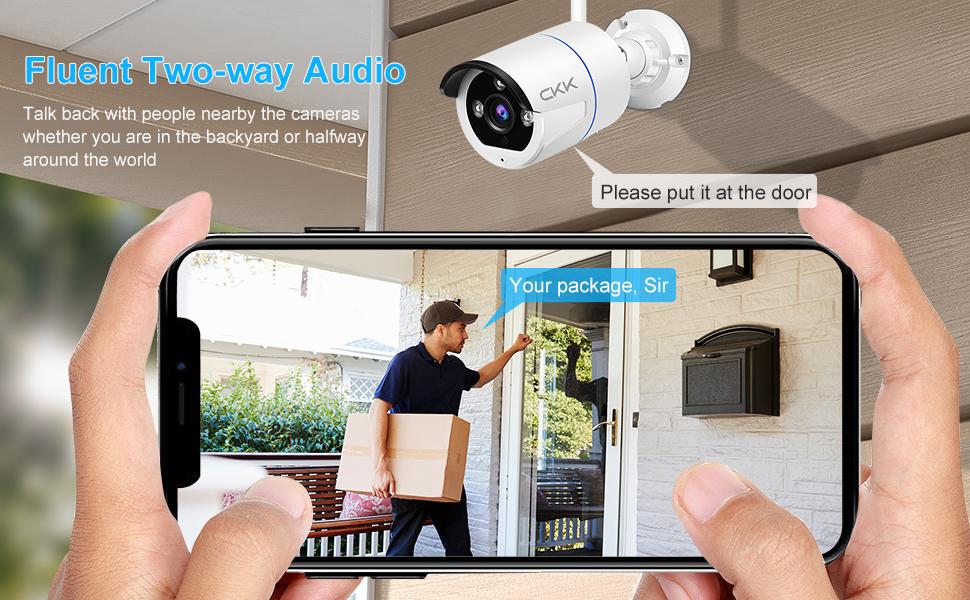 2 way audio wireless security camera system