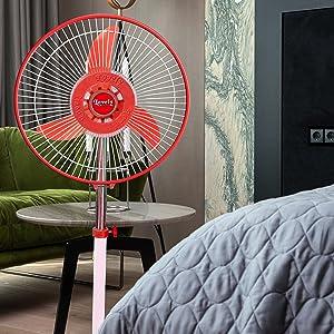 """Lovely Solar Fan DC 12V 36W  12"""" SE Pedestal Fan - King"""