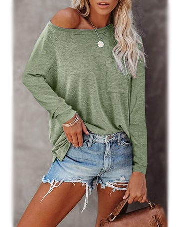 NEYOUQE Womens Loose Color Block Striped Long/Short Sleeve T Shirts Casual Comfy Tops