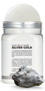 White Silver Gold AC Jelly Jar Avery Rose Peel-Off Jelly Mask  Set for face amp; Vajacial