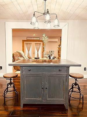 rustic swivel stools set of 2