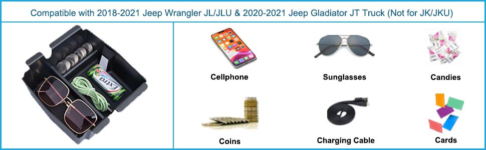 Jeep center console organizer