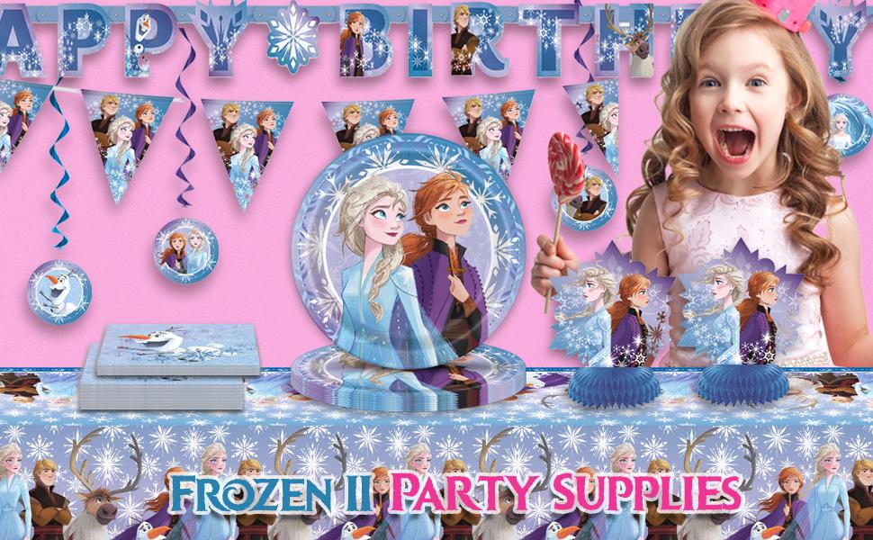 Disney Frozen 2 II birthday party supplies supply plates cups napkins straws banner decorations
