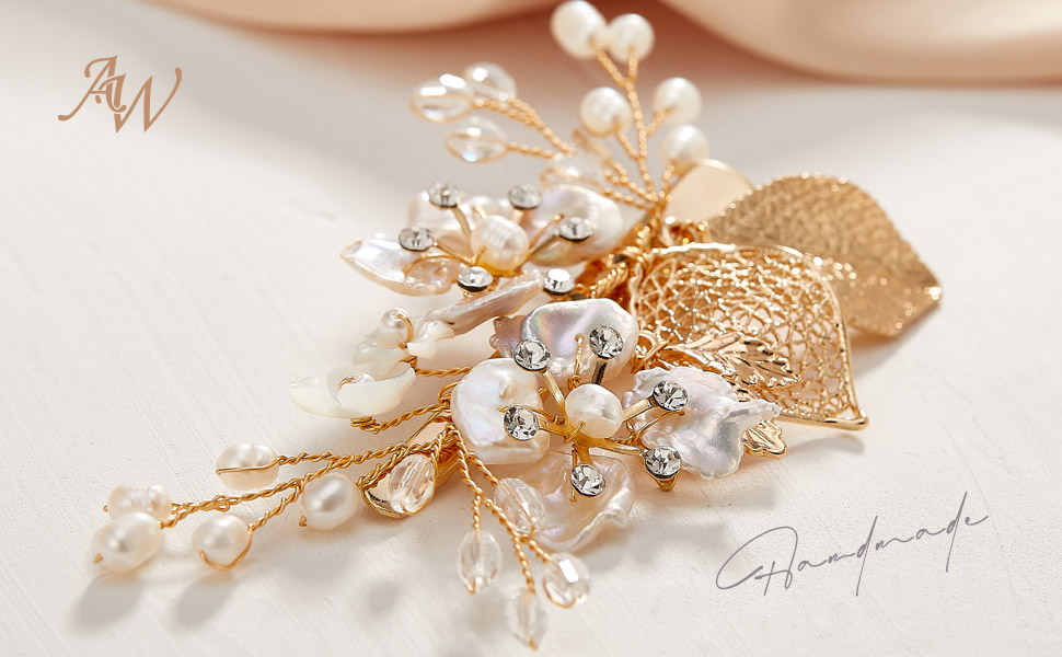 gold hair clip for wedding