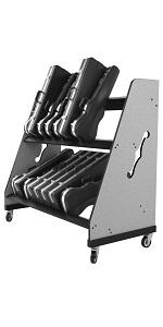 Violin, viola and trumpet storage rack