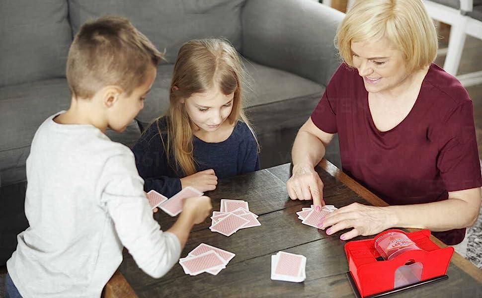 poker night, professional card shuffler, card suffler two decks, hand cranked card shuffler  manual