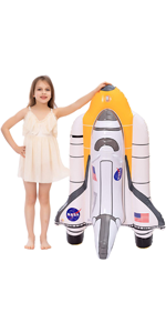 Inflatable Space Shuttle Pool Float