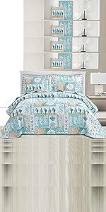 plaid coastal quilt set coverlet