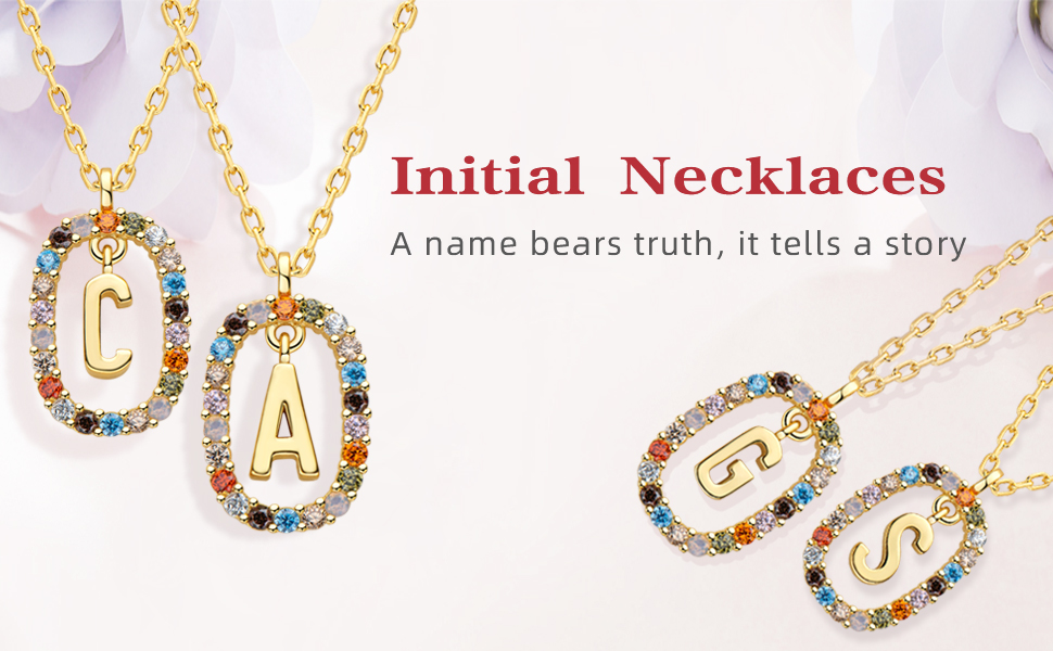 Initial Necklaces for Women