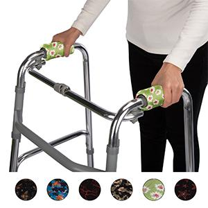 Fashion functional form fitting covers protect walkers hand grip from daily wear