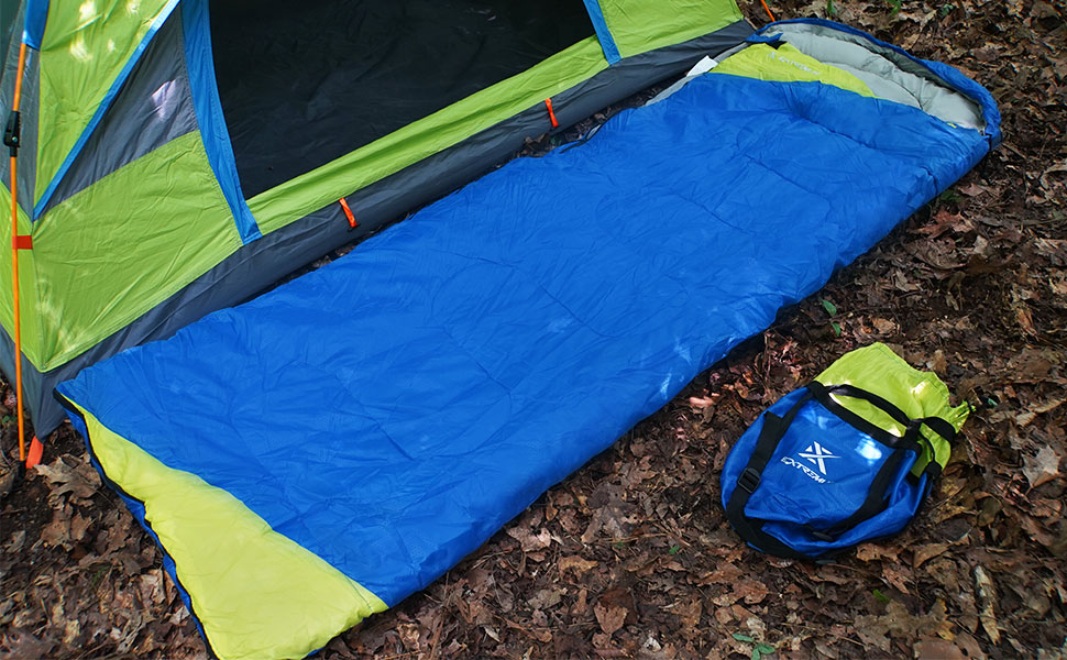 Extremus Rectangular Sleeping Bags, camping sleeping bags. Perfect for Adults and Kids