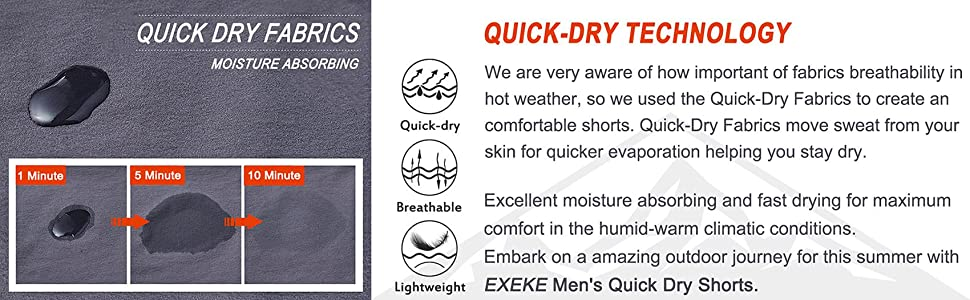 Moisture absorbing and fast drying