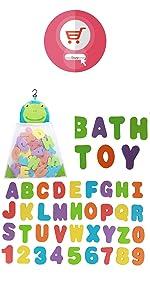 Bath Toys Foam Letters  ABC 123