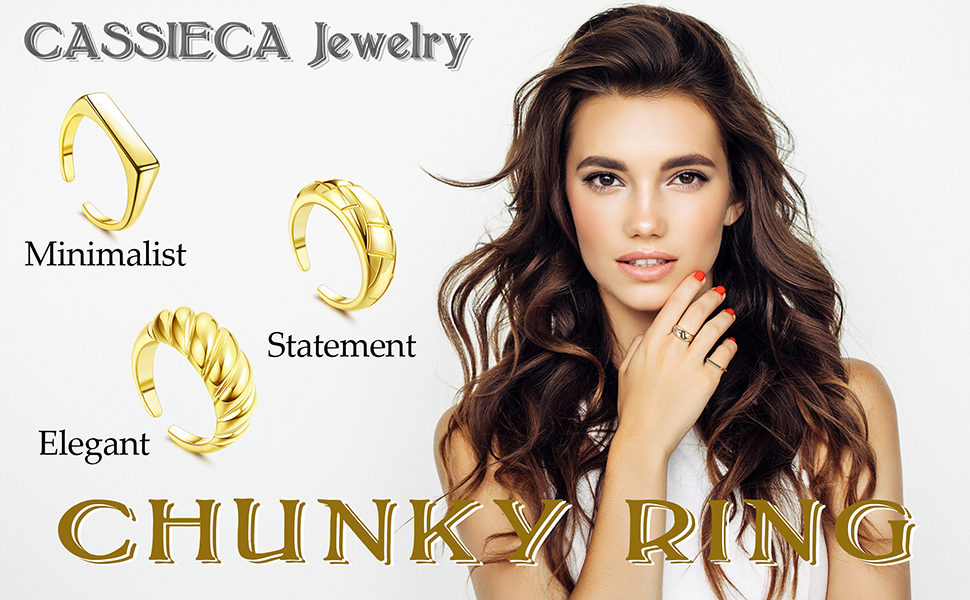 Thick Dome Chunky Rings
