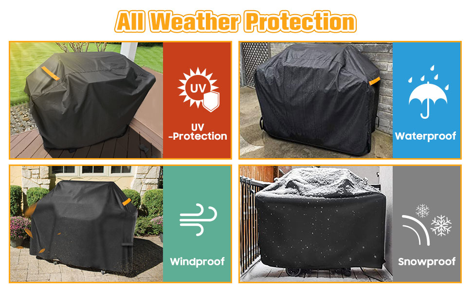 anti uv windproof snowproof barbecue cover 150cm extra large bbq cover 3 burner bbq with cover