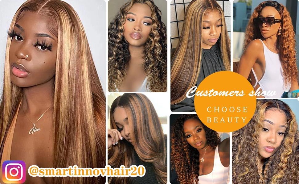 smartinnovhair highlight human hair wigs