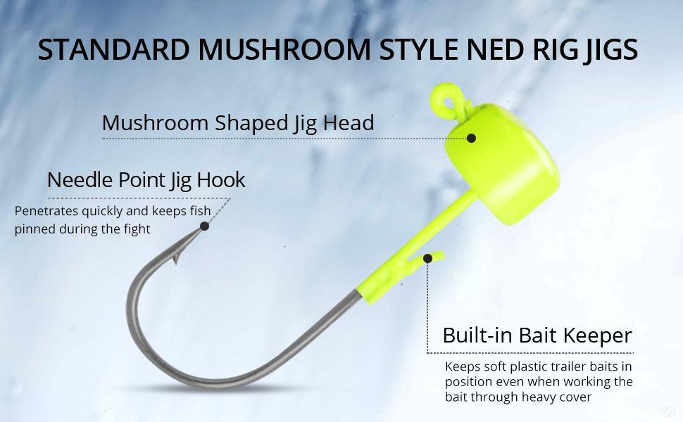 Standard Mushroom Style Ned Rig Jigs
