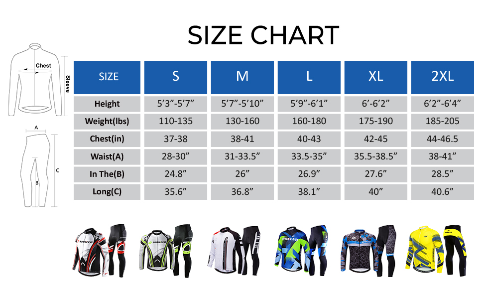 cycle clothes for men