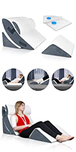 Lunix 4pcs wedge pillow set