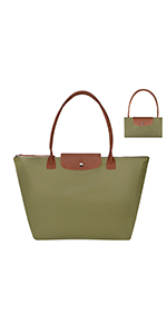 GM LIKKIE Green Foldable Tote Bag