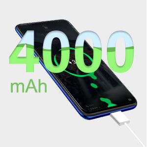 4000 mAh unlocked smartphone