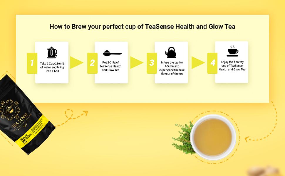 tea sense health and glow tea best herbal tea for glowing skin improvement