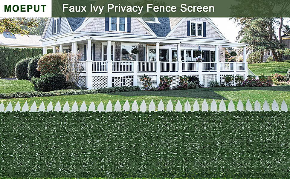 faux privacy fence greenery expandable