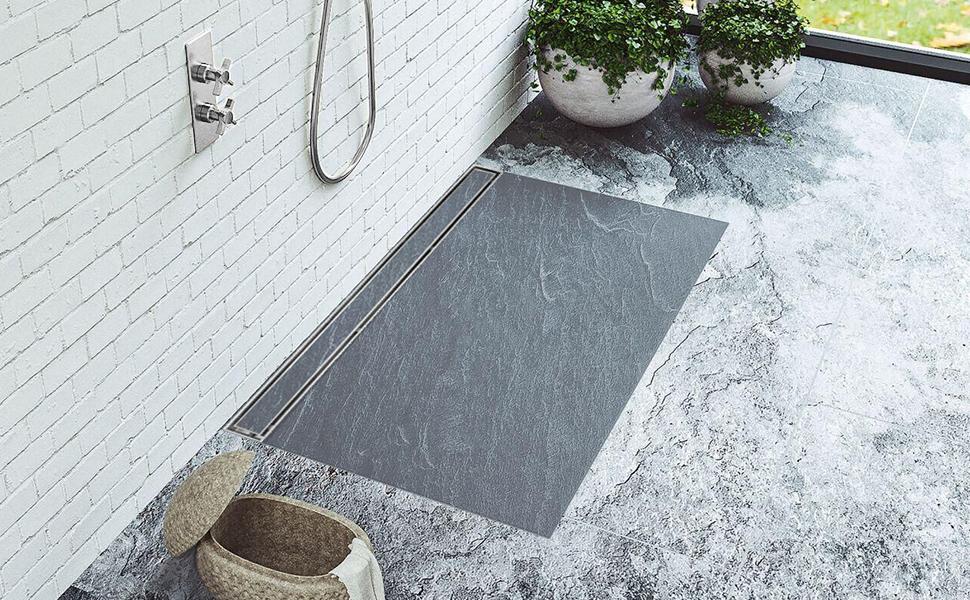 title insert linear shower drain