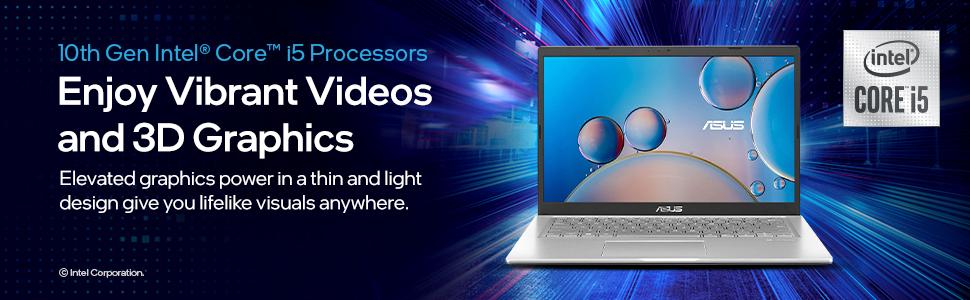 ASUS VivoBook 14 (2020), Intel Core i5 10th Gen enjoy vibrant videos and 3D graphics