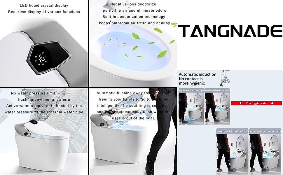 automatic smart toilet