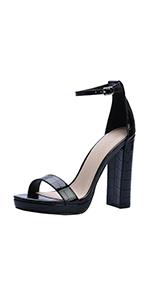 Women Chunky Heel Pump Sandal