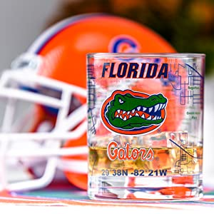 Florida Gators glass University of florida glassware Football 54-KLSN-WY2A