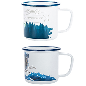 enamel camping mugs 2pcs