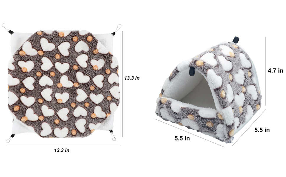 Warm Rat Hammock Bed Bunkbed Sugar Glider Hammock Guinea Pig Cage Accessories