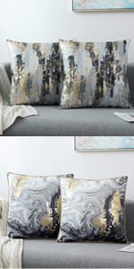 BLACK GOLD THROW PILLOW COVERS