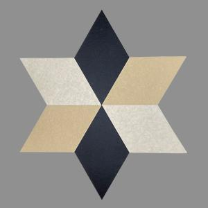 Rhombus decorative acoustic panels