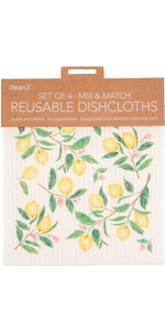 swedish dish cloth reusable dishcloth set of 4 four