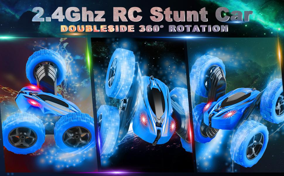 4WD 2.4Ghz Full Functional RC Stunt Car