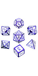 Metal solid dice