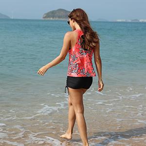 ladies swimming suit bath suit s m l xl xxl boyshorts 2 two piece swimsuits for women