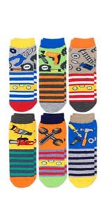 Jefferies Socks Boys Tools Pattern Crew Socks 6 Pack