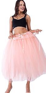 big swing tutu skirt for halloween peach