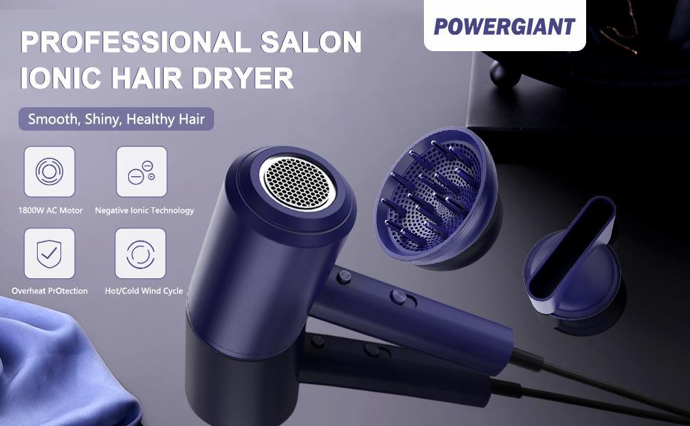 Powergiant Professional Salon Ionic Hair Dryer